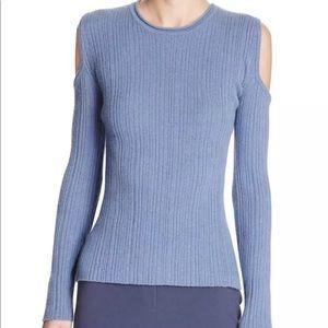 Eile Tahari cashmere blend cold shoulder sweater